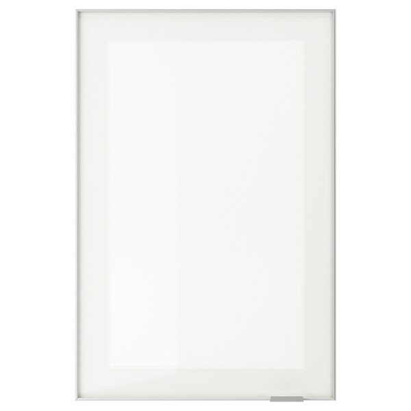 JUTIS Glass door, frosted glass/aluminium, 40x60 cm