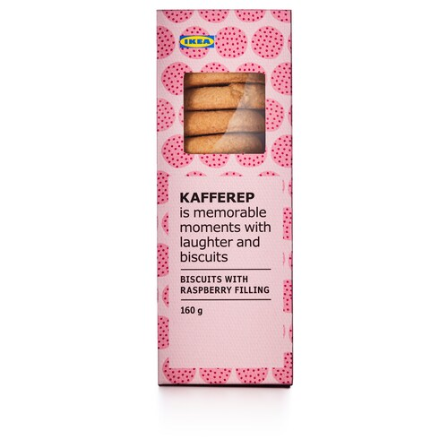 KAFFEREP biscuits with raspberry filling 160 g