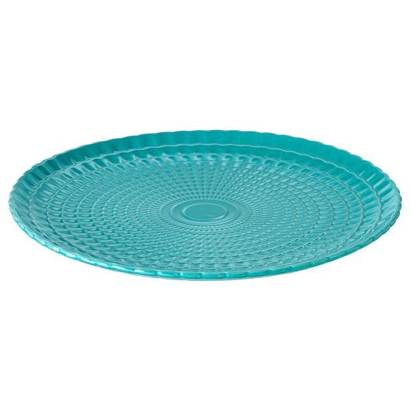 KALASFINT serving plate turquoise 3 cm 34 cm