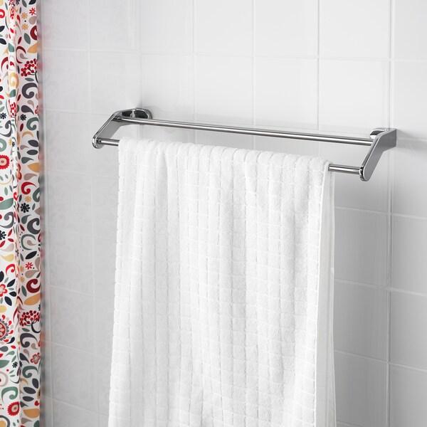 KALKGRUND Towel rail, chrome-plated, 63 cm
