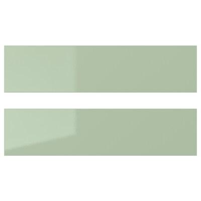 KALLARP Drawer front, high-gloss light green, 40x10 cm