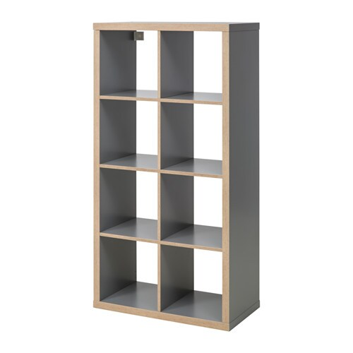 Scaffali Ikea Kallax.Kallax Shelving Unit Grey Wood Effect