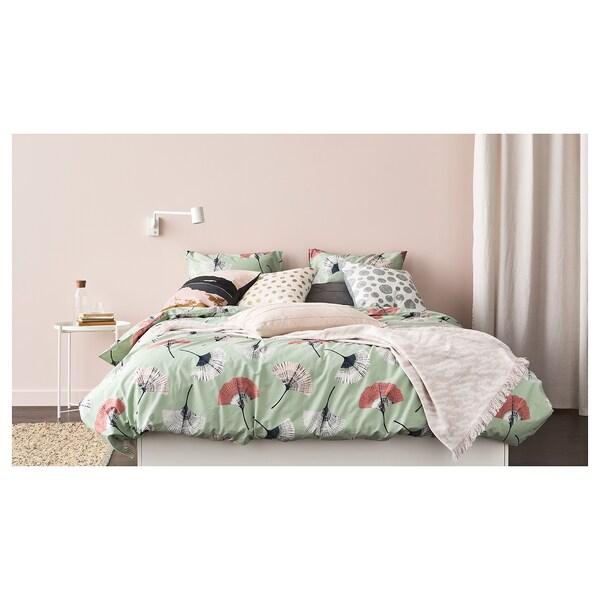 KAPASTER Throw, white/pink, 130x170 cm
