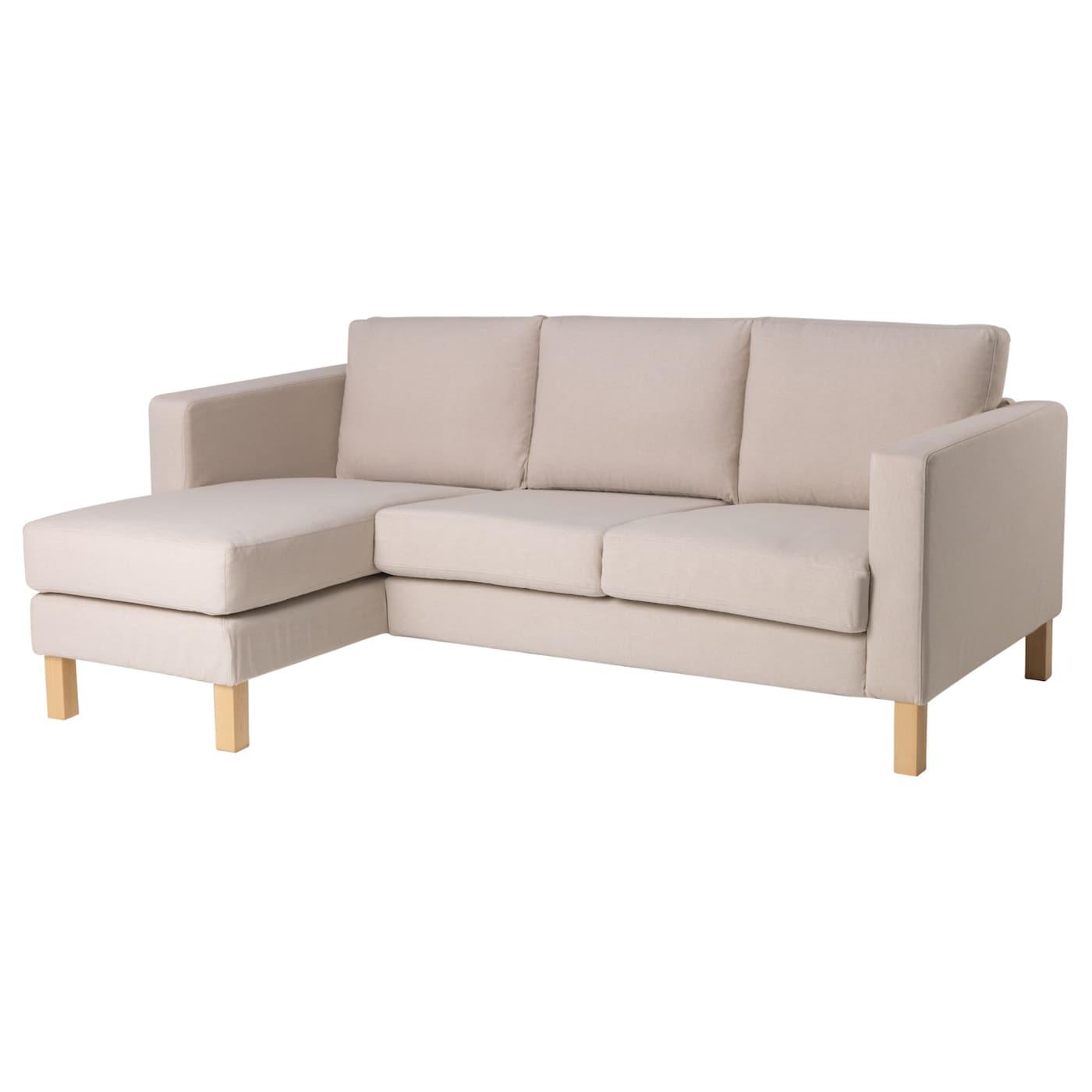 Karlstad Compact 2 Seat Sofa W Chaise Lounge Lofallet Beige Ikea
