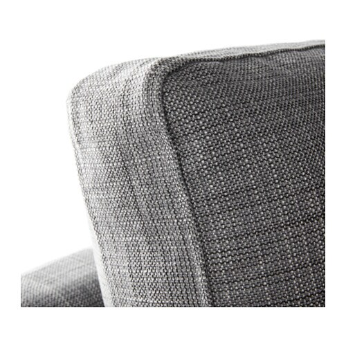 KARLSTAD pact 2 seat sofa w chaise lounge Isunda grey IKEA