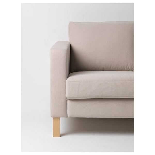 KARLSTAD Cover compact 2-seat sofa, Lofallet beige