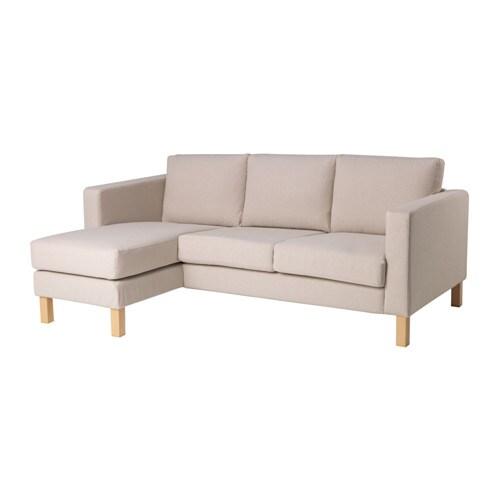 Karlstad Cvr F Comp 2 Seat Sofa W Chaise Lng Lofallet Beige Ikea