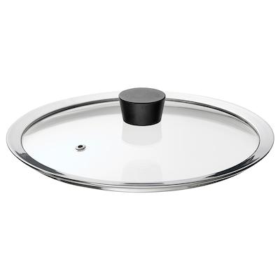 KLOCKREN Pan lid, glass, 25 cm