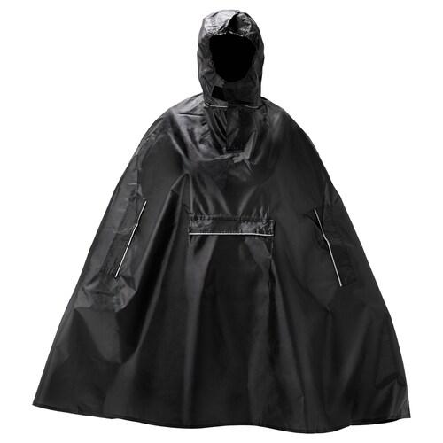 KNALLA rain poncho black 150 cm 110 cm