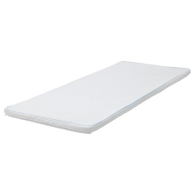 KNAPSTAD Mattress pad, white, 90x200 cm