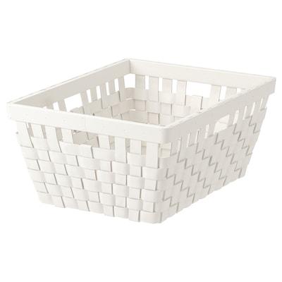 KNARRA Basket, white, 38x29x16 cm
