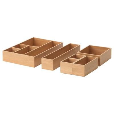 KNOTA Storage box, set of 6, bamboo