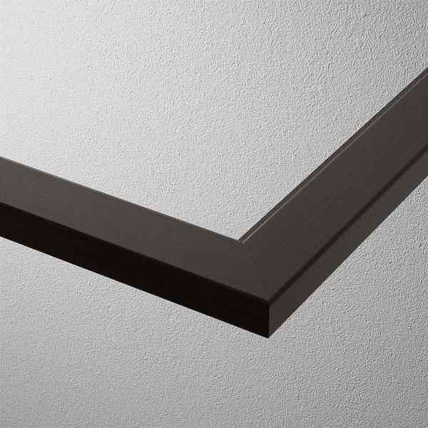 KOMPLEMENT Glass shelf, black-brown, 100x58 cm