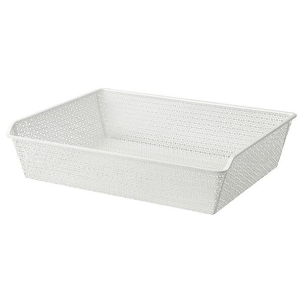 KOMPLEMENT Metal basket, patterned/white, 75x58 cm