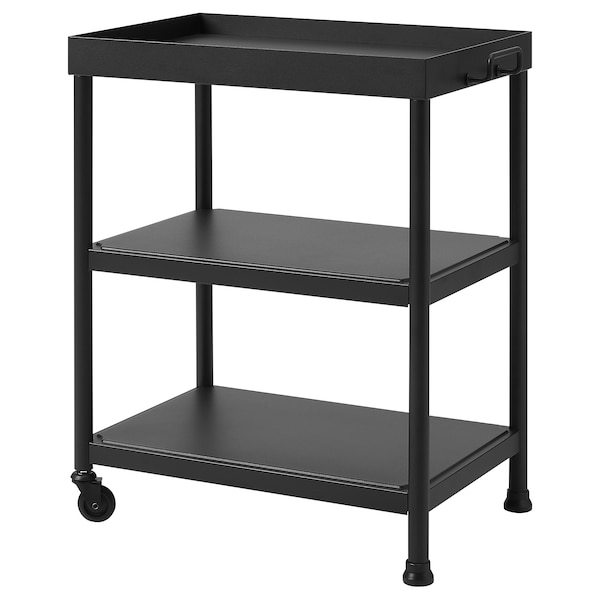 KORNSJÖ Side table, black, 50x35 cm