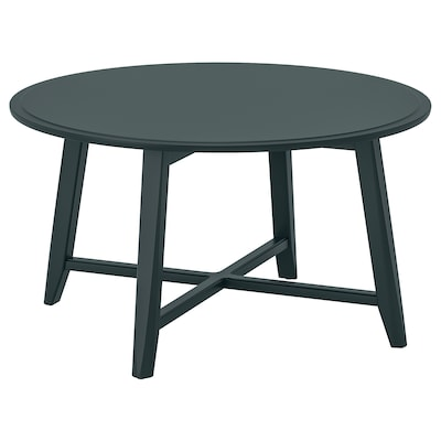 KRAGSTA Coffee table, dark blue-green, 90 cm