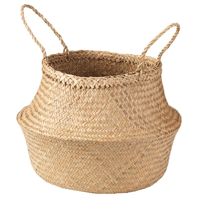 KRALLIG Basket, seagrass, 38 cm