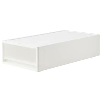 KRUBBA Pull-out storage unit, transparent white, 39x74x18 cm