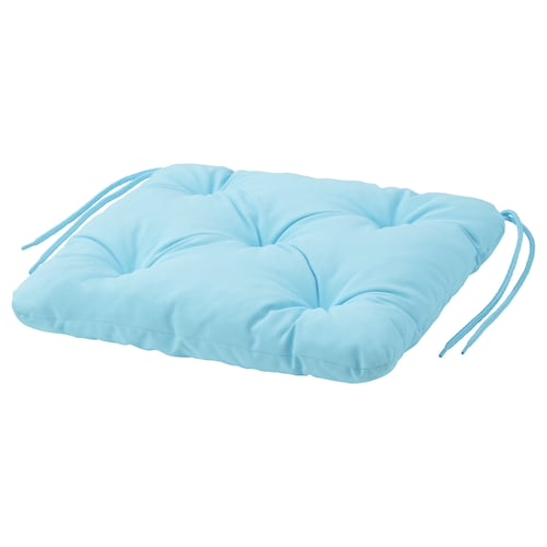 KUDDARNA chair cushion, outdoor light blue 36 cm 32 cm 6 cm