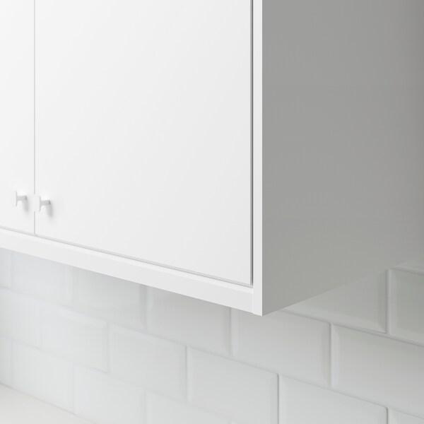 KUNGSBACKA chamfer decostrip/moulding matt white 221 cm 2.8 cm 1.4 cm