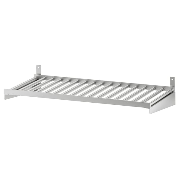 KUNGSFORS Shelf, stainless steel, 60 cm