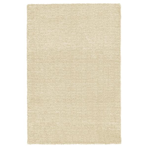 LANGSTED Rug, low pile, beige, 170x240 cm