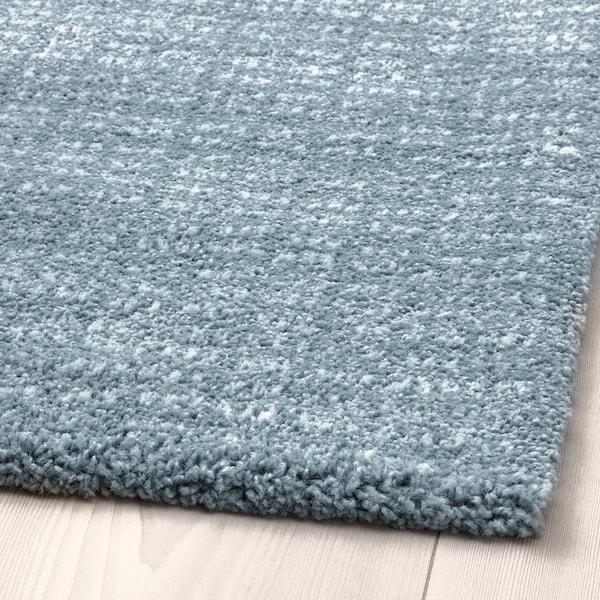 LANGSTED Rug, low pile, light blue, 133x195 cm