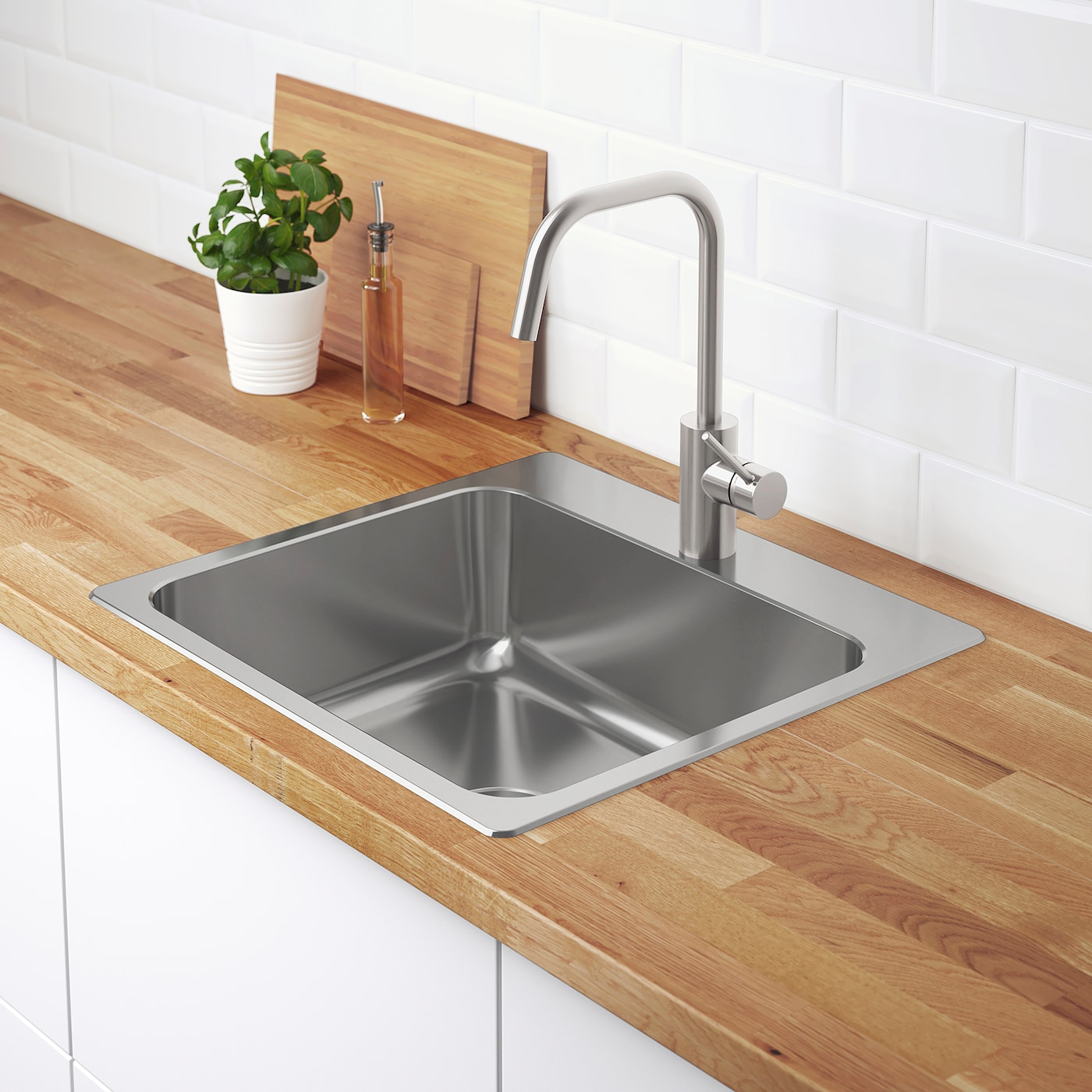 Inset Sink 1 Bowl Stainless Steel