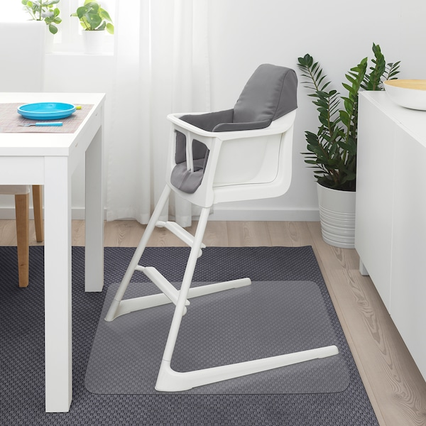 LANGUR Padded seat cover for highchair, grey