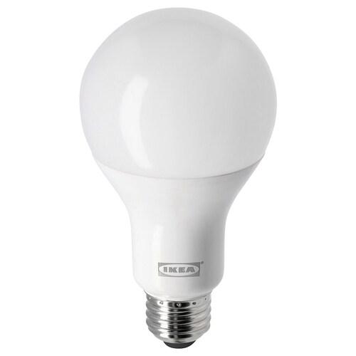 LEDARE LED bulb E26 1520 lumen warm dimming/globe opal white 1520 lm 2700 K 77 mm 15 W 1 pack