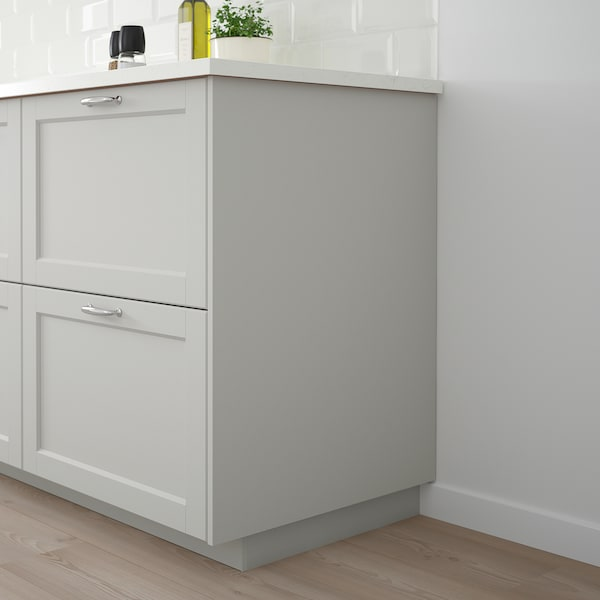 LERHYTTAN Cover panel, light grey, 63x220 cm