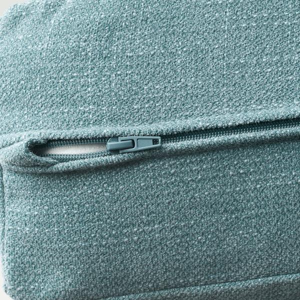 LIDHULT Corner sofa, 6-seat, with chaise longue/Gassebol blue/grey
