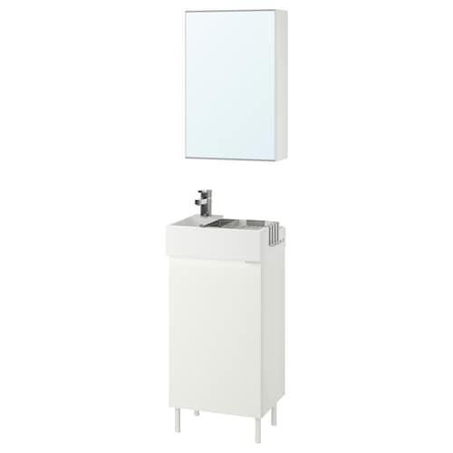 LILLÅNGEN / LILLÅNGEN bathroom furniture, set of 5 white/Ensen tap 41 cm 40 cm 41 cm 89 cm