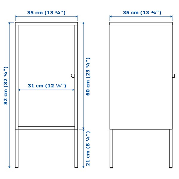 LIXHULT Storage combination, anthracite/blue, 105x35x117 cm