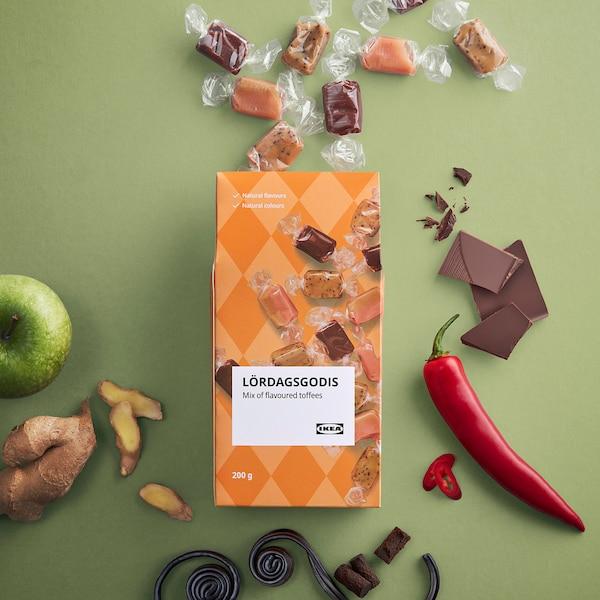 LÖRDAGSGODIS Mix of flavoured toffees, 200 g