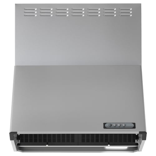 LUFTIG wall mounted extractor hood silver-colour 60.5 cm 80.0 cm 70.0 cm