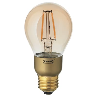 LUNNOM LED bulb E26 400 lumen, dimmable/globe brown clear glass, 60 mm