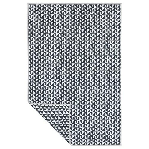 LURVIG blanket black/triangle 150 cm 100 cm