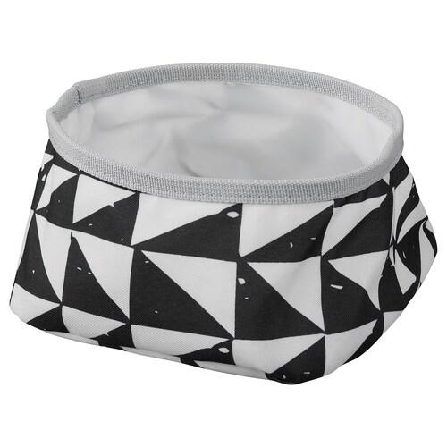 LURVIG bowl white/black 80 mm 160 mm 1.0 l