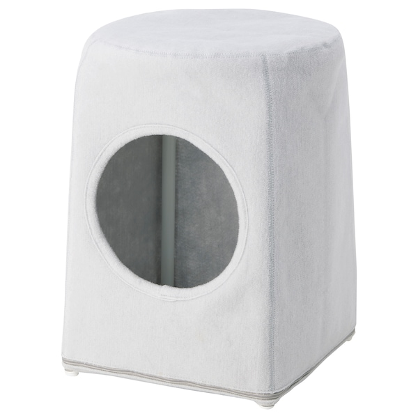 LURVIG cat house for stool light grey 31 cm 45 cm 32 cm