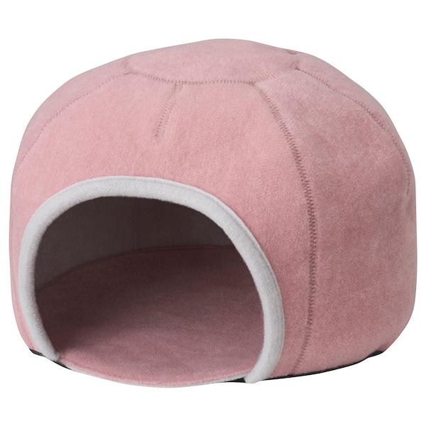 LURVIG cat house, igloo light grey/pink 25 cm 34 cm