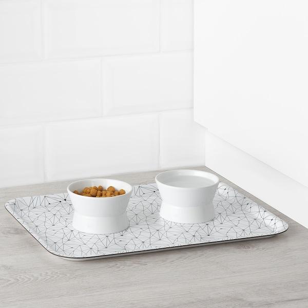 LURVIG reversible food bowl white 6 cm 9.5 cm 11 cm