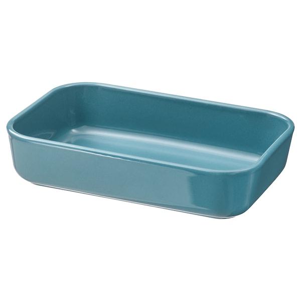LYCKAD Oven/serving dish, blue, 23x15 cm