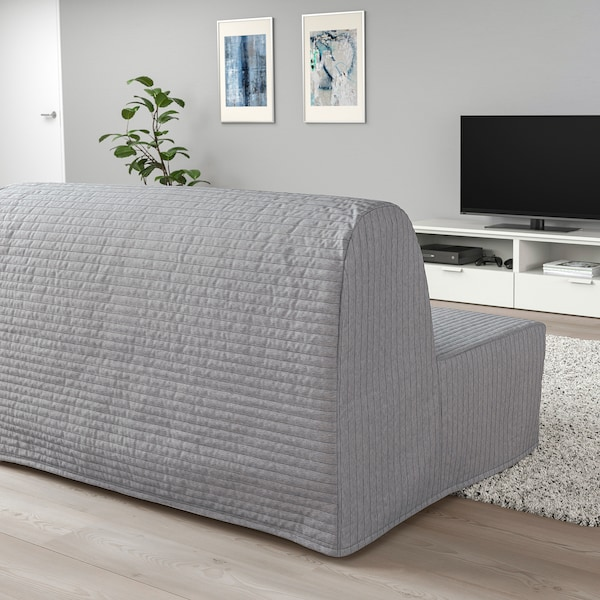 LYCKSELE LÖVÅS 2-seat sofa-bed, Knisa light grey