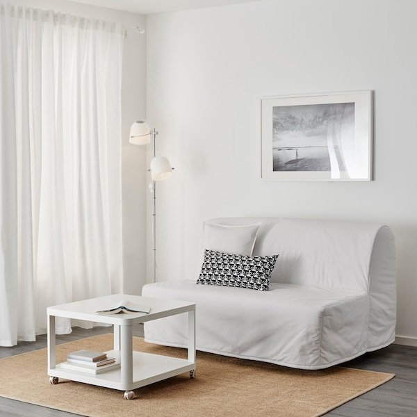 LYCKSELE Two-seat sofa-bed cover, Ransta white