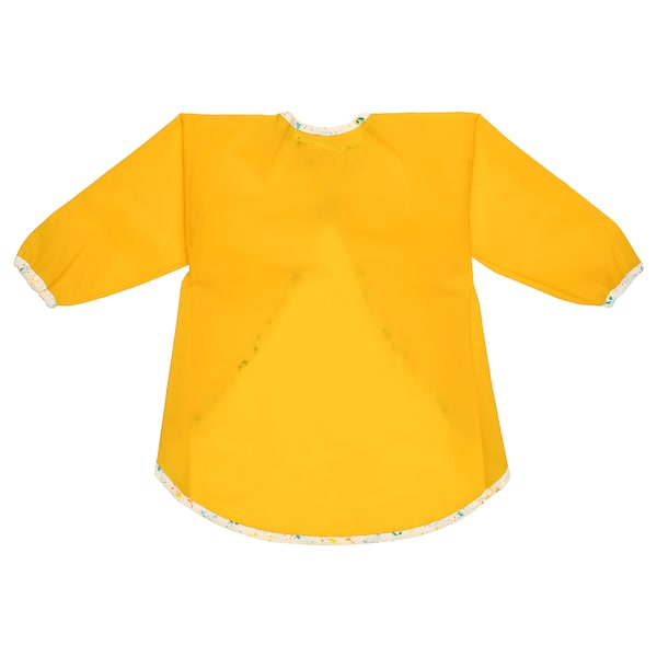 MÅLA Apron with long sleeves, yellow