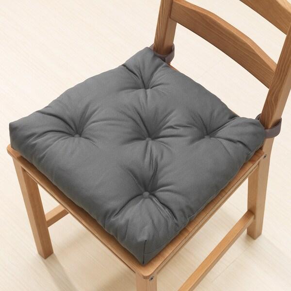 MALINDA Chair cushion, grey, 40/35x38x7 cm