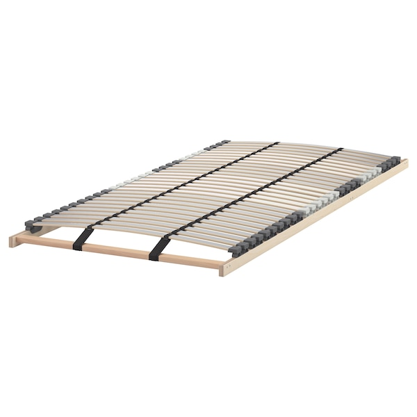 MALM Bed frame, high, w 2 storage boxes, white stained oak veneer/Lönset, 120x200 cm