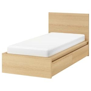 Add slatted bed base: Luröy.