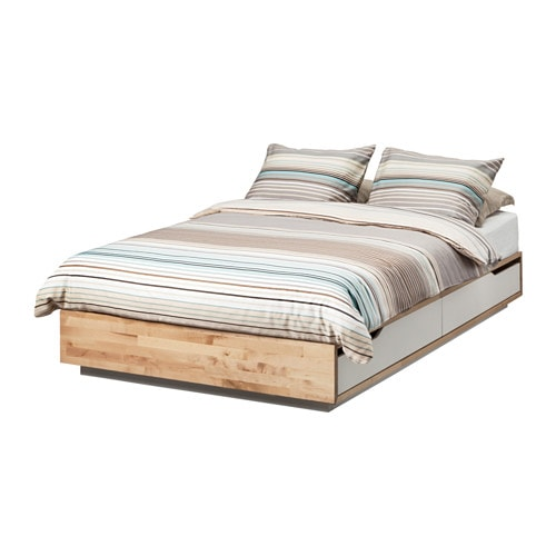 Ikea Aspelund Queen Bed Frame ~ Home  Bedroom  Beds with storage